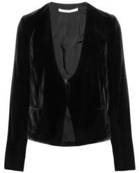 Blazer en velours noir Diane von Furstenberg