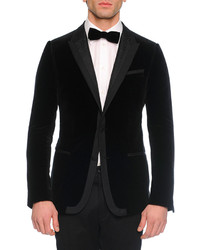 Blazer en velours noir Dolce & Gabbana