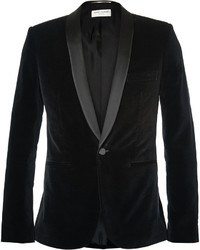 Blazer en velours noir Saint Laurent