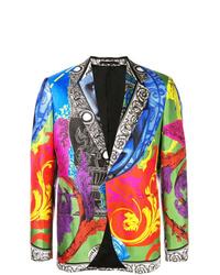 Blazer estampado en multicolor de Versace