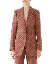Blazer estampado marrón