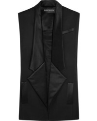 Blazer sin mangas negro de Balmain