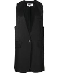 Blazer sin mangas negro de MM6 MAISON MARGIELA