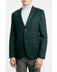 Blazer verde oscuro de Topman
