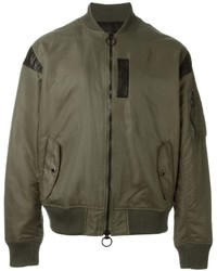 Blouson aviateur olive Mostly Heard Rarely Seen