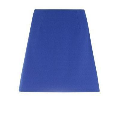 New Look Blue Crepe A Line Mini Skirt
