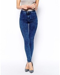 Blue Acid Skinny Jeans