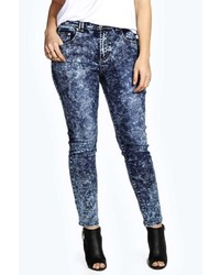 Boohoo Olivia Acid Wash Stretch Skinny Jean