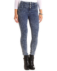 Refuge hi waist super skinny acid wash jeans medium 167552
