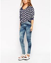 Wildfox Couture Wildfox Marianne Acid Wash Skinny Jeans