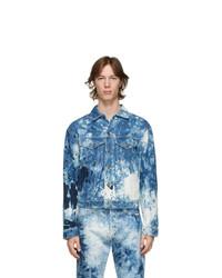 MSGM Blue Denim Bleached Jacket