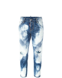 Dsquared2 Cool Girl Cropped Bleached Jeans
