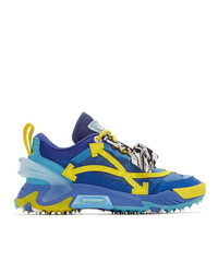 Off-White Blue And Yellow Odsy 2000 Sneakers