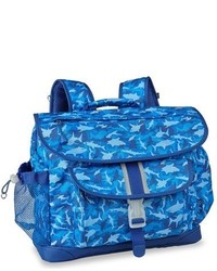 Bixbee Boys Large Shark Camo Water Resistant Backpack Blue