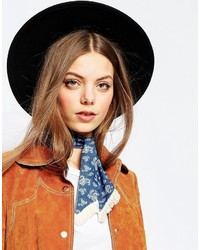 Asos Collection Denim Bandana With Mini Fringe Neck Tie