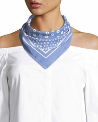 Lisa King Cotton Bandana Scarf Light Blue