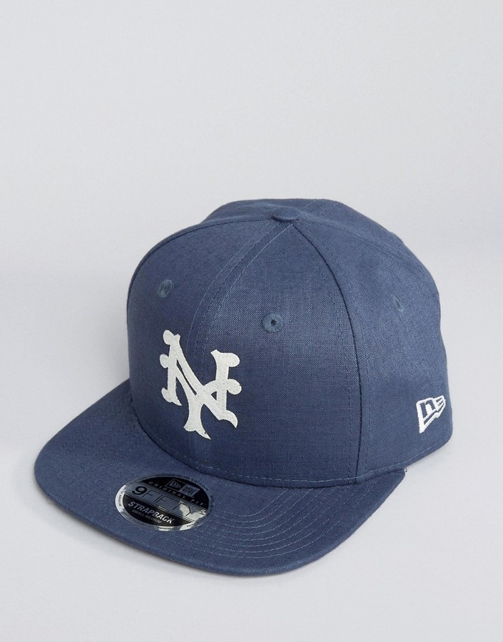798e2c053db ... New Era 9fifty Snapback Cap Ny Mets In Linen Felt ...