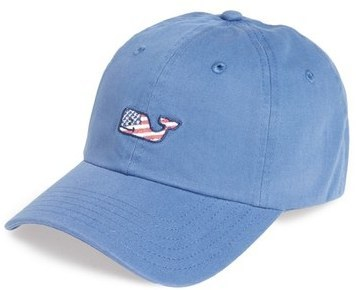 b255ee2648052 ... Vineyard Vines Flag Whale Logo Baseball Cap Red ...
