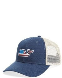 Flag whale patch trucker hat red medium 3772528