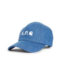 A.P.C. X Carhartt Work In Progress Denim Baseball Cap