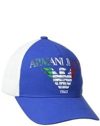 Armani Jeans X3 Canvas And Mesh Logo Baseball Cap