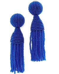 Oscar de la Renta Classic Short Tassel Clip On Earrings