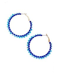 Rebecca Minkoff Thread Beaded Hoop Earrings