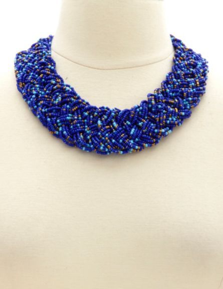 1297e090929993 Charlotte Russe Beaded Braided Collar Necklace, $6 | Charlotte Russe ...