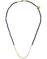 Gurhan Rain Delicate 24k Sapphire Beaded Necklace