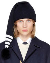 Thom Browne Navy Four Bar Stocking Beanie