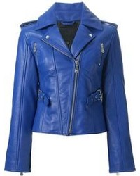 Blue biker jacket original 8876837