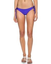 Blue lace up bikini bottoms medium 212718
