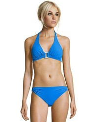Lisa Curran Swim Cobalt Shimmer Sea Cutout Detail Hipster Bikini Bottoms