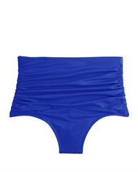 High waisted ruched bikini bottom medium 1197929