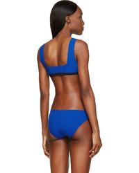 Alexander Wang T By Blue Bonded Seams Bikini Top