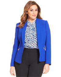 Tahari Asl Plus Size Zip Pocket Blazer
