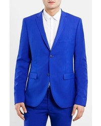 Blue ultra skinny fit suit jacket medium 159131