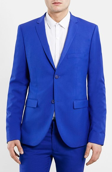 Topman Blue Ultra Skinny Fit Suit Jacket | Where to buy & how to wear