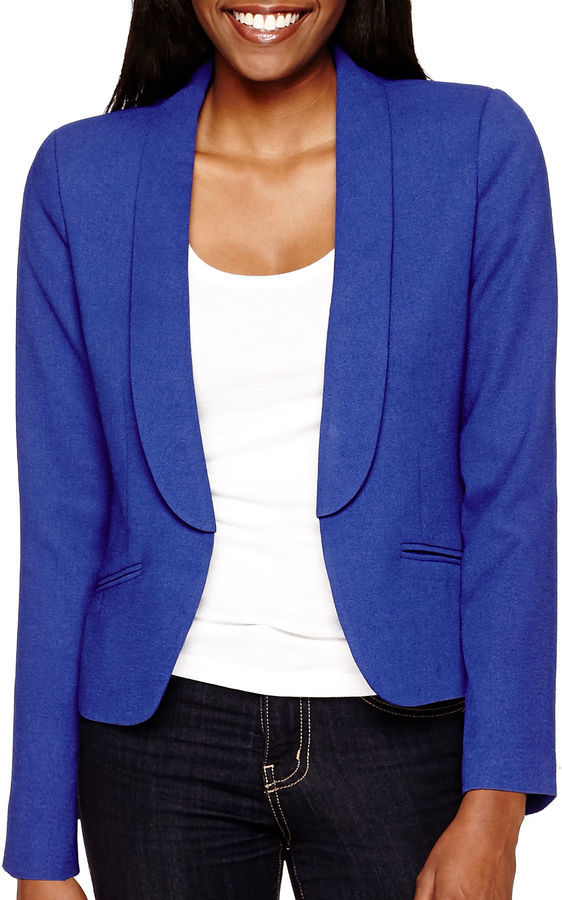 6c386a1353f Women s Fashion › Blazers › jcpenney › jcpenney › Blue Blazers jcpenney  Decree Long Sleeve Blazer