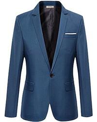 S&S-Men Formal One Button Suit Sport Coat Slim Fit Premium Blazer Jacket