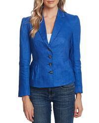 CeCe Peplum Linen Jacket