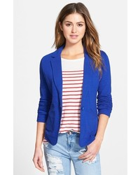 Caslon Petite Knit One Button Blazer