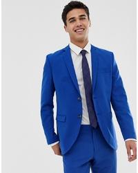 Jack & Jones Premium Stretch Slim Suit Jacket In Electric Blue