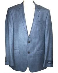Ralph Lauren Suite Jacket Blue Wool Silk Blazer 42 Long