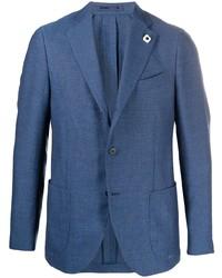 Lardini Textured Single Breasted Blazer