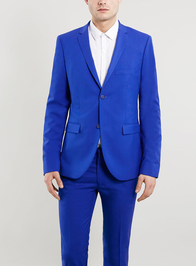 Topman Cobalt Blue Ultra Skinny Suit Jacket | Where to buy & how