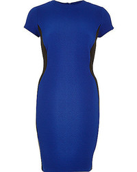 River Island Bright Blue Textured Bodycon Dress