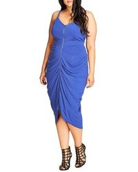 City Chic Plus Size Zip Front Body Con Dress
