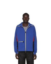 MONCLER GRENOBLE Blue Knit Bomber Jacket