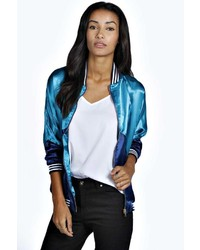 Boohoo Missy Sports Luxe Bomber Jacket
